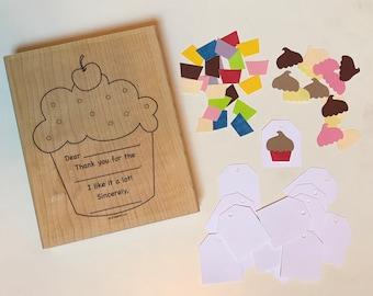 Simple Birthday Thanks - Stampin' Up! - Cupcake Kit - Background Stamp - Rubber Stamp Set - Stamp Kit - Card Kit - Retired - Cupcakes