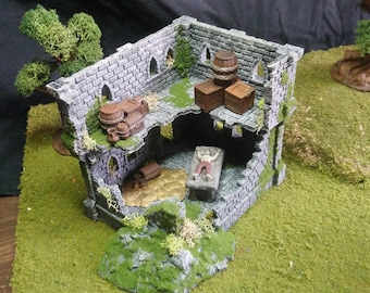 Ruin Castle 2pc terrain for 28mm wargaming and is a multi-part model.