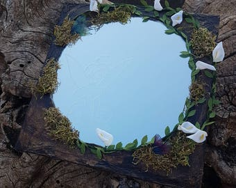 Fantasia Mirror, Peter Pan, Tinkerbell, Tinker Bell, Mirror, fantastic, girl, engraved, decoration