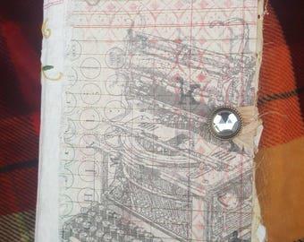Junk journal, diary, keepsake, memory keeping book
