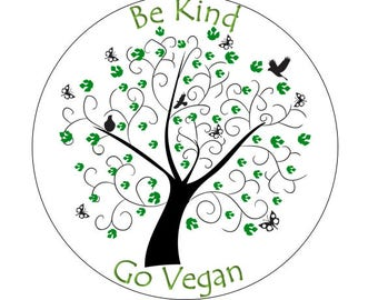 Be Kind, Go Vegan Cake Topper and Cupcake Toppers