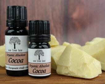 Organic Cocoa Absolute • Essential Oil • French Cocoa Bean Oil • Therapeutic Grade • Pure • Uncut • Dropper Caps • Chocolate Oil •