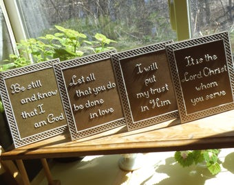 Words to Live By - Set of Four- Counted Cross Stitch Chart - PDF Instant Download