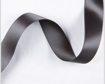 """Charcoal 2"""" 50mm Wide Silky Satin Ribbon Wedding Gown Sash"""