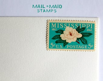 Mississippi Statehood || 10 unused vintage postage stamps