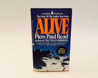 Vintage Book Alive by Piers Paul Read 1980s Movie Tie-In Edition Paperback