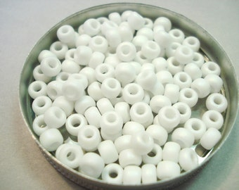 5/0 Seed Beads by Miyuki - Matte Opaque White AB 20 grams (402FR)