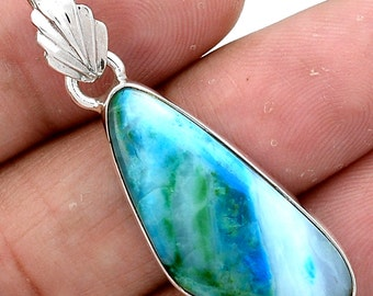 Peruvian Blue Opal Pendant Uno Momento