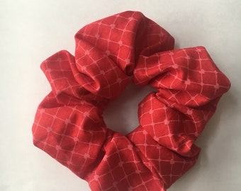 Ponytail Holder, Red Heart, Hair Tie, Scrunchie, Hair Band, Retro, Gifts for Her, Gifts Under 10