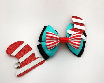The Cat in the hat inspired hairbow