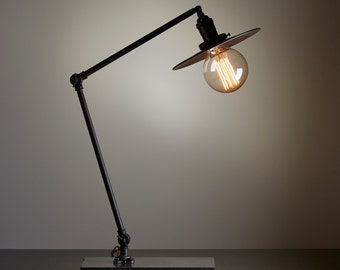 Articulating Lamp with Concrete Base