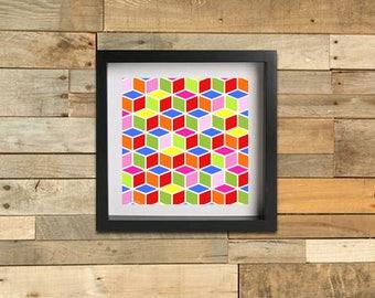 Geometric Cubes - Summer