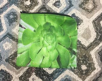 Trousse zippée succulentes