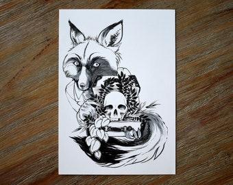 Fox Peddler Original Drawing