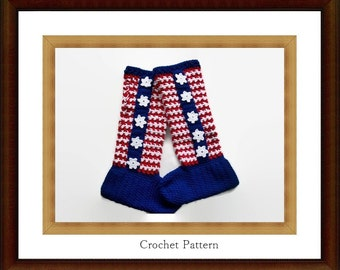 American Flag Socks - Crochet Sock Pattern - Crochet Slipper Pattern - Ladies Crochet Socks - Crochet Socks - Easy Sock Pattern