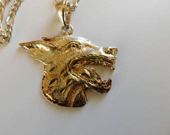 Wolf Necklace Jackal Scary Animal Halloween Costume Jewelry Accessory