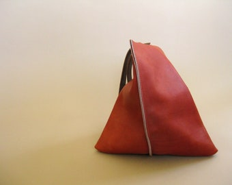 LAST ONE 13in Wedge - Tomato red leather