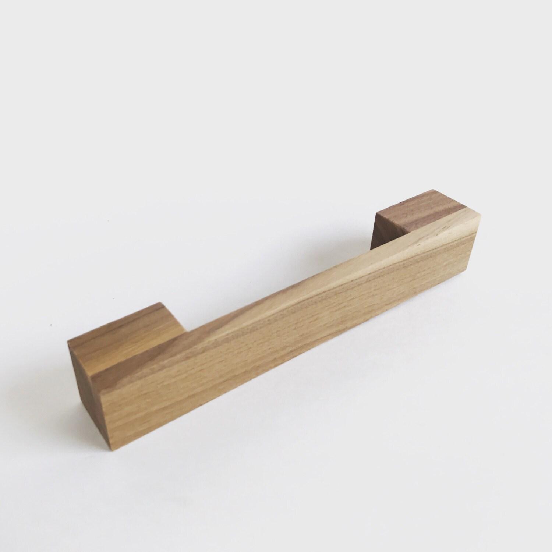 Modern Kitchen Cabinet Pulls: Wood Drawer Pull Medium Mid-century Modern Cabinet Wood