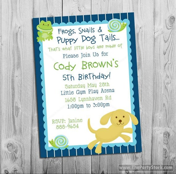 Puppy party boy first 1st birthday invitation puppy party like this item filmwisefo Choice Image