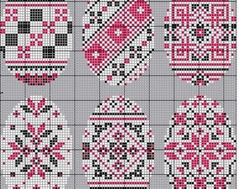Pysanky - 43  easter egg designs in cross stitch, downloadable cross stitch design book direct from the Author