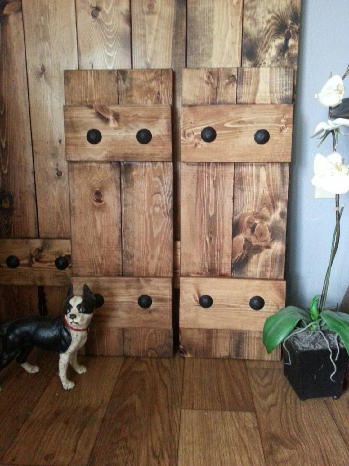 RUSTIC Wood Shutters With Clavos   Decorative Shutters   Primitive Shutters    Interior/Exterior   Wall Decor   Headboard   Wooden Shutters
