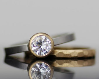 uncommon jewelry modern wedding rings forged by hand by lolide