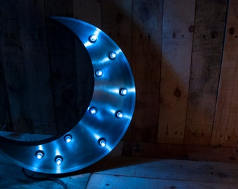 Blue Moon Light - Steel / Vintage / Home lighting / 56cm Height - Dimmable