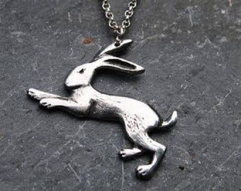 Hare Pewter Pendant