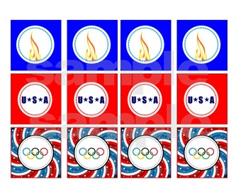 Printable Instand Download Olympic Party Tags