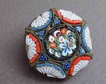 Antique  micro Mosaic pin