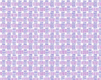 Purple and Violet Grids from Andover Fabric's Barbados Collection - 100% Cotton