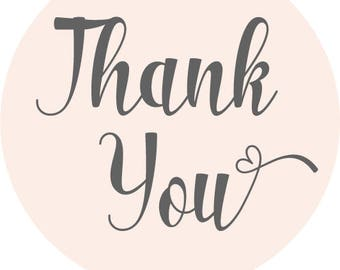 12 Thank You Business Stickers - Small Business