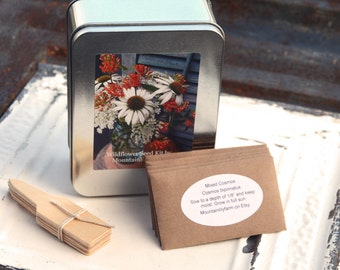 Wildflower Garden Seeds, Garden Gift Collection, 10 Varieties of Wildflower Seeds in Gift Box, Great Gift for Gardener or Mother's Day Gift