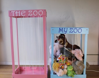 Stuffed animal storage, Stuffed animal zoo, Toy Box, Toy organizer, Toy storage