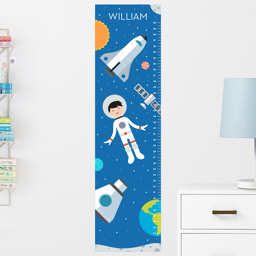 Space Growth Chart Decal Wall Growth Chart Decal Growth