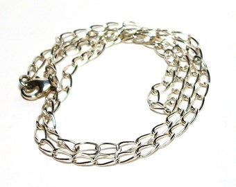 """Sterling silver chain, heavy cable chain, 20 inch chain, necklace jewelry,  """"Anchors Away"""""""
