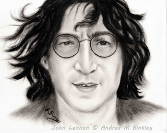 John Lennon, John Lennon Portrait, John Lennon Poster, John Lennon Art Print, John Lennon Sketch, Beatles, John Lennon Wall Decor