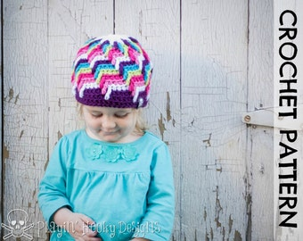 CROCHET HAT PATTERN - Offshore Beanie - Kids Size
