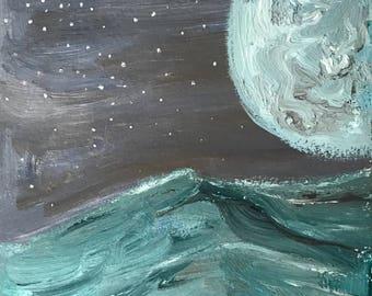 Blue Moon original painting