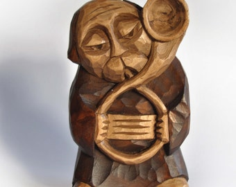 TUBA PLAYER handcrafted wooden sculpture