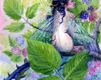 Fairy painting-Among the Brambles