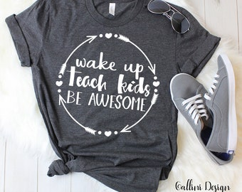 Wake Up Teach Kids Repeat Svg Teacher Svg School Svg Png Dxf Files Instant Download