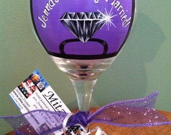 Engagement wine glass