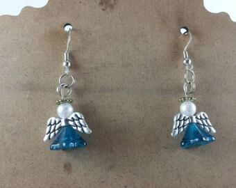 Beaded Angel Earrings