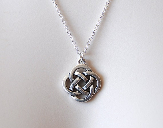 Celtic knot charm necklace celtic knot pendant celtic pendant celtic knot charm necklace celtic knot pendant celtic pendant mystic knot pewter celtic symbol of love infinity eternity silver chain mozeypictures Image collections
