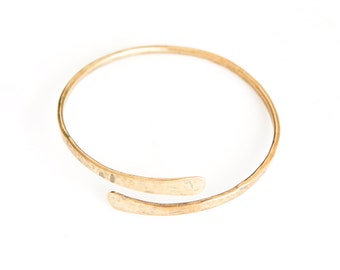 CARRIED brass cuff. brass bangle. gold cuff. gold bangle. new mom gift. isaiah 40:11. arm party. minimal bracelet. gold bracelet.