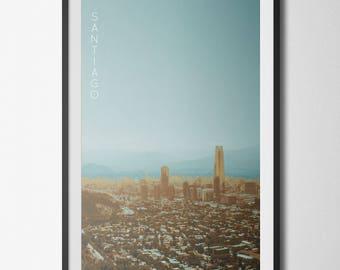 Santiago, Chile Poster 11x17 18x24 24x36