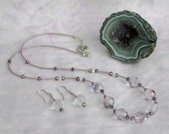 Crystal Necklace & Earring Set