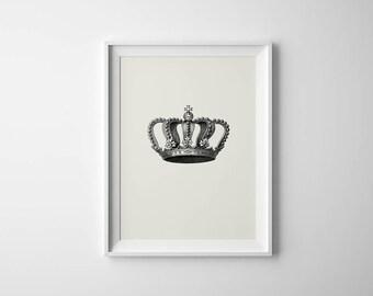 His Print, King Print, Crown Print, Crown Wall Art, King Crown Art