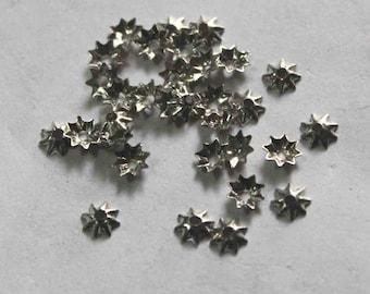 100 silver star shape  Sequins/100% Metal base/KBMS691